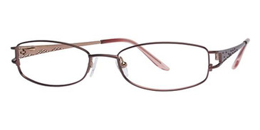 Cranberry/Gold Avalon 1847 Eyeglasses.