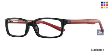 Black/Red Parade Q Series 1739 Eyeglasses