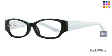 Black/Withe Parade Q Series 1742 Eyeglasses - Teenager