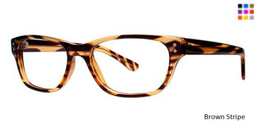 Brown Stripe Parade Q Series 1715 Eyeglasses