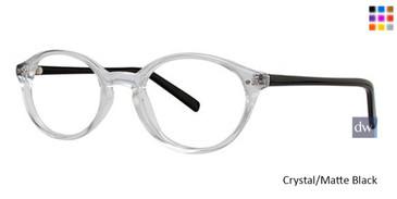 Crystal Matte Black Parade Q Series 1724 Eyeglasses