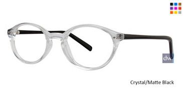 Crystal/Matte Black Parade Q Series 1724 Eyeglasses