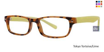 Tokyo Tortoise/Lime Parade Q Series 1725 Eyeglasses