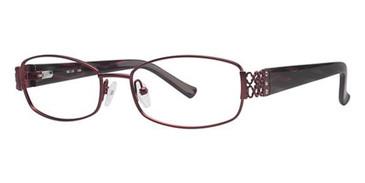 Burgundy Lattice Avalon 5022 Eyeglasses