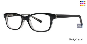 Black/Crystal Parade Q Series 1729 Eyeglasses - Teenager