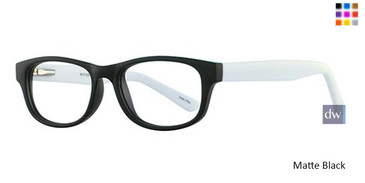 Matte Black Parade Q Series 1734 Eyeglasses - Teenager