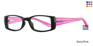Black/Pink Parade Q Series 1737 Eyeglasses