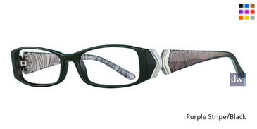 Purple Stripe/Black Parade Plus 2102 Eyeglasses
