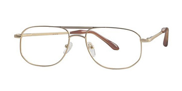 Matte Gold Parade 1535 Eyeglasses.