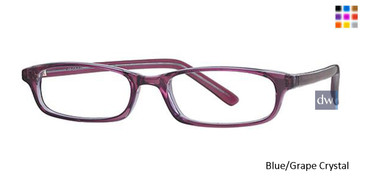 Blue/Grape Crystal Parade 1541 Eyeglasses - Teenager