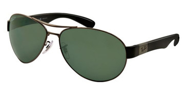 Gunmetal/Black Green Classic lenses RayBan RB3509 Polarized Sunglasses