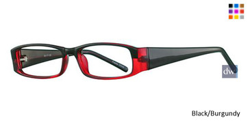 Black/Burgundy Parade 1705 Eyeglasses
