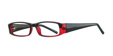 Black/Burgundy Parade 1705 Eyeglasses.