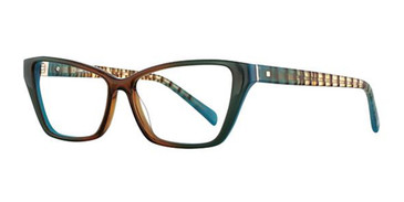Brown/Teal Romeo Gigli 77005 Eyeglasses