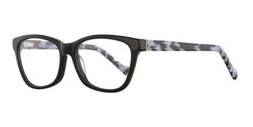 Black/Black White Romeo Gigli RG77011 Eyeglasses.
