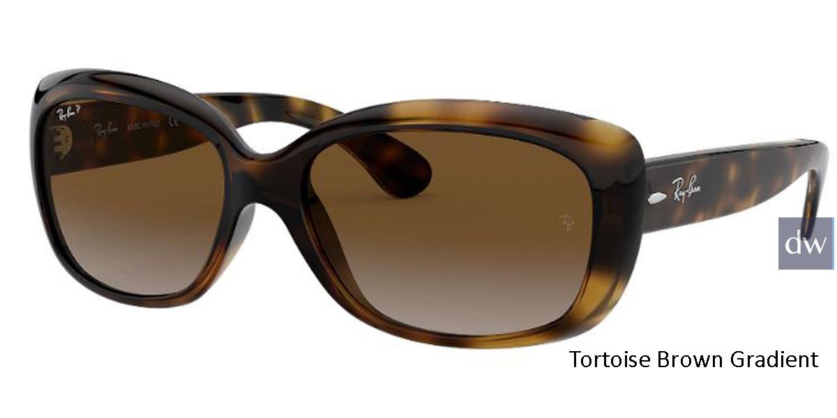 Tortoise Brown Gradient lenses RayBan RB4101 Polarized Jackie Ohh Sunglasses