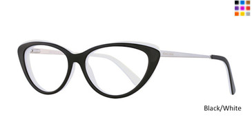 Black/White Romeo Gigli RG77012 Eyeglasses.