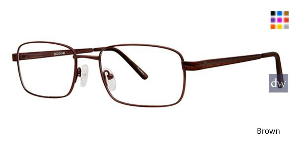 Brown Avalon 5107 Eyeglasses.