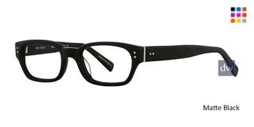 Matte Black Deja Vu 9003 Eyeglasses - Teenager