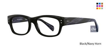 Black/Navy Horn Deja Vu 9013 Eyeglasses
