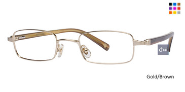 Gold/Brown Deja Vu DV002 Eyeglasses
