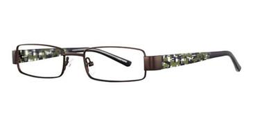 Dark Gun/Camouflage K12 4043 Eyeglasses - Teenager