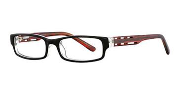 Black Crystal/Red K12 4050 Eyeglasses