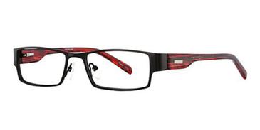Black/Red K12 4056 Eyeglasses - Teenager