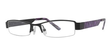 Black/Purple Zebra K12 4064 Eyeglasses