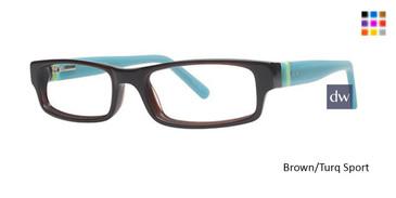 Brown/Turq Sport K12 4076 Eyeglasses