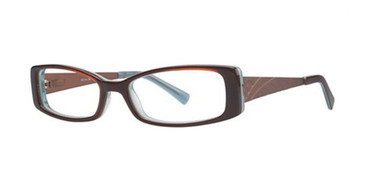 Chocolate/Turq K12 4077 Eyeglasses - Teenager