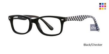 Black/Checker K12 4081 Eyeglasses