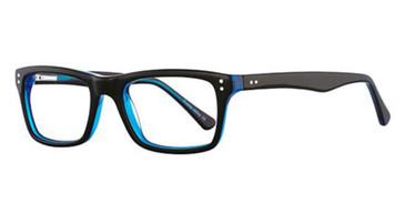 Black/Blue K12 4087 Eyeglasses - Teenager