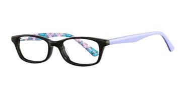 Black/Lavender K12 4088 Eyeglasses