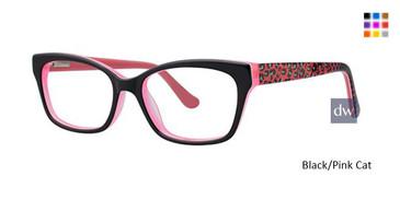 Black/Pink Cat K12 4090 Eyeglasses