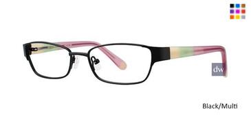 Black/Multi K12 4091 Eyeglasses - Teenager