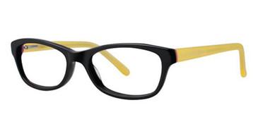 Black/Yellow K12 4092 Eyeglasses - Teenager