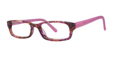 Pink Multi K12 4093 Eyeglasses - Teenager