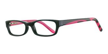 Black/Hot Pink K12 4094 Eyeglasses - Teenager