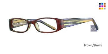 Brown/Streak K12 4095 Eyeglasses - Teenager