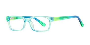 Aqua Tie Dye K12 4098 Eyeglasses