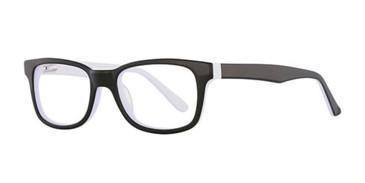 Black/White K12 4100 Eyeglasses - Teenager