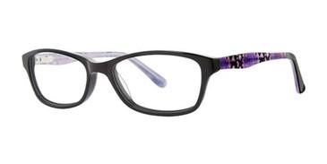 Black/Purple Snake K12 4101 Eyeglasses - Teenager