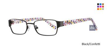 Black/Confetti K12 4103 Eyeglasses - Teenager