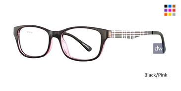 Black/Pink K12 4602 Eyeglasses.
