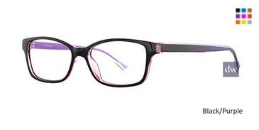 Black/Purple X21 4604 Eyeglasses.
