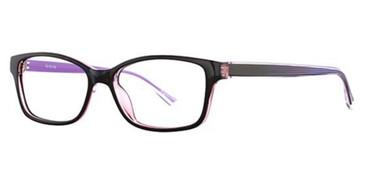 Black/Purple K12 4604 Eyeglasses.