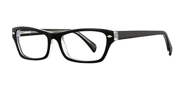 Black/Crystal Elan 3005 Eyeglasses.