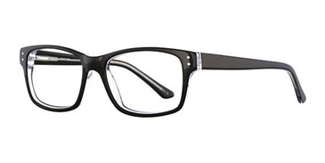 Black/Crystal Elan 3007 Eyeglasses.