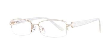 Gold/pearl Elan 3402 Eyeglasses.